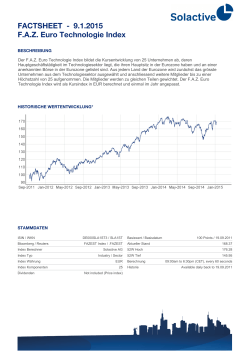 FACTSHEET - F.A.Z. Euro Technologie Index 7.1.2015 - Solactive