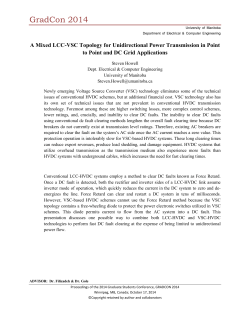 A Mixed LCC-VSC Topology for Unidirectional Power Transmission