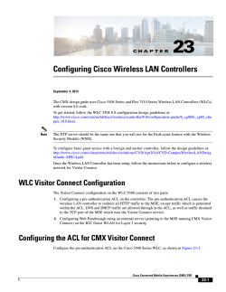"Chapter 23, ""Configuring Cisco Wireless LAN Controllers"""