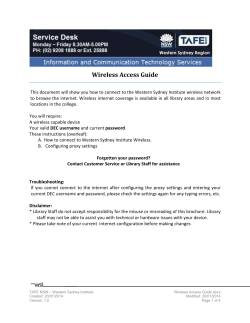 Fast connect to the WSI wireless network - TAFE NSW