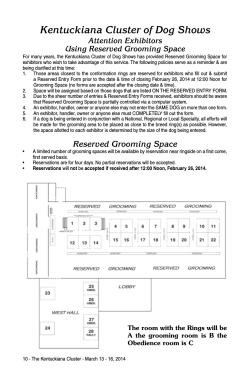Reserved Grooming Space Instructions and Form