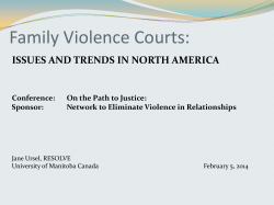 Family Violence Courts