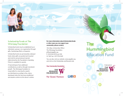 The Hummingbird - Hummingbird Education Fund