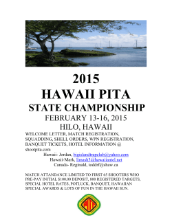2015 Hawaii State Shoot – Big Island Trap Club – Hilo