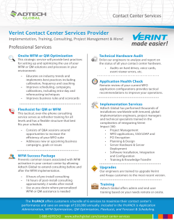 Verint Impact 360 Contact Center Services