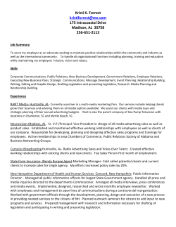 View Resume - IFMA North Alabama