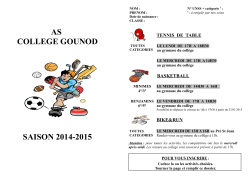 AS COLLEGE GOUNOD SAISON 2014-2015
