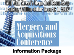Mergers and Acquisitions Conference 2015