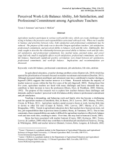 Full Text - Journal of Agricultural Education