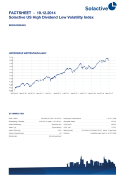 FACTSHEET - Solactive US High Dividend Low Volatility Index