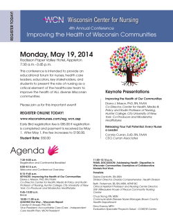 2014_WCN Healthy Communities Conference FlyerRegistration