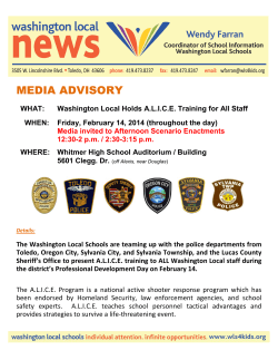 News Release: 2014-02-11: WLS Holds Alice Training for Staff