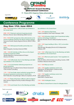 Conference Programme - Ground Handling International