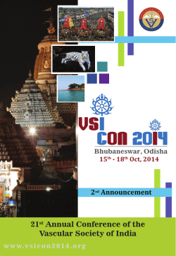 21st Annual Conference of the Vascular Society of