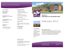 Bulletin - Wilmington First Assembly of God