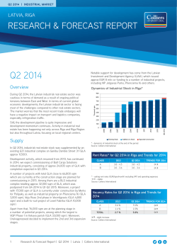 Q2 2014 Industrial report