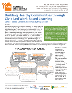 Y-PLAN as Civic-Led Work Based Learning