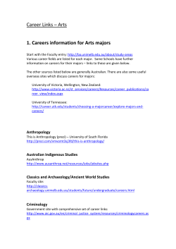 Career Links – Arts - Careers and Employment