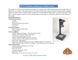 WCT-120 Photo-conductance Lifetime Tester