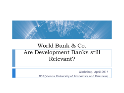 An Introduction to the World of Development Banks