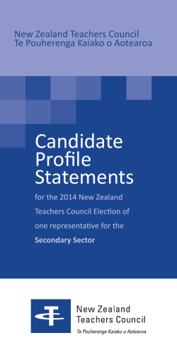 Candidate Profile Statements