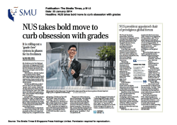 NUS takes bold move to curb obsession with grades