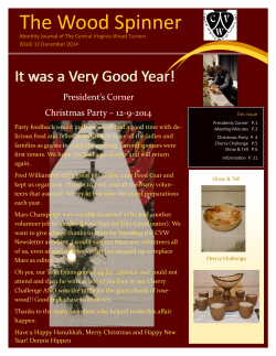 the January newsletter - Central Virginia Woodturners