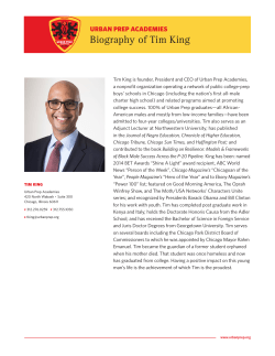 Biography of Tim King - Urban Prep Academies