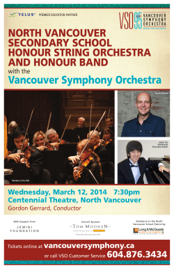 North Vancouver Secondary School Honour String Orchestra and