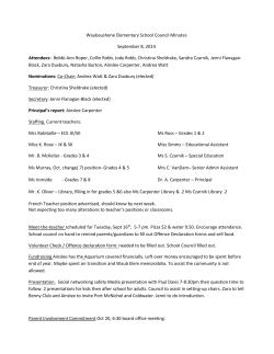 Waubaushene Elementary School Council Minutes September 8