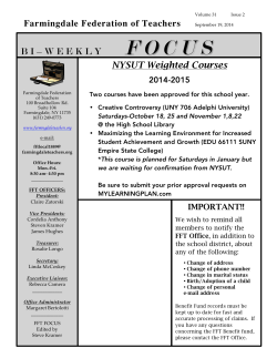 Farmingdale Federation of Teachers NYSUT Weighted Courses