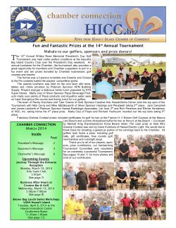 March 2014 Newsletter - Hawaii Island Chamber of Commerce