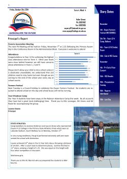 Newsletter October 31st 2014 - Ouyen P