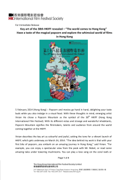 Download pdf version - The Hong Kong International Film Festival