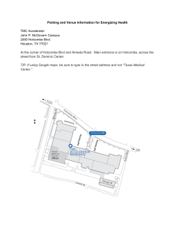 Parking and Venue Information for Energizing Health TMC