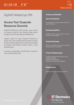 DigiSAFE MobileCrypt VPN Access Your Corporate Resources