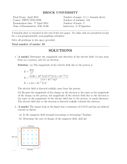 2014 April Final Exam Solutions
