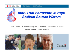 Iodo-THM Formation in High Sodium Source Waters