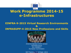 Work Programme 2014-15 e-Infrastructures