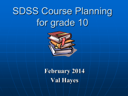 Course Planning for students entering Grade 10