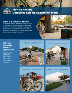 Florida Avenue Complete Streets Feasibility Study