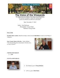 The Voice of the Vineyards