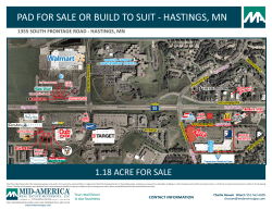 PAD FOR SALE OR BUILD TO SUIT - HASTINGS, MN