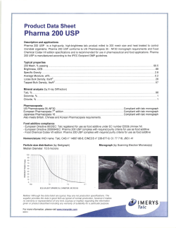 Pharma 200 USP - BRENNTAG SPECIALTIES, Inc.