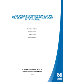 alternative staffing organizations and skills: linking temporary work