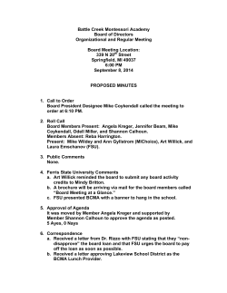 Board Meeting Minutes 9.8.14 - Battle Creek Montessori Academy