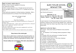 16 October 2014 - Glen Taylor School