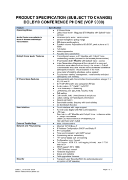 PRODUCT SPECIFICATION (SUBJECT TO