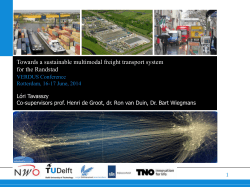 Towards a sustainable multimodal freight transport system for the