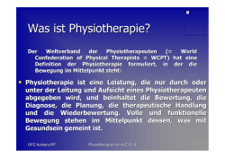 Physiotherapie von A-Z
